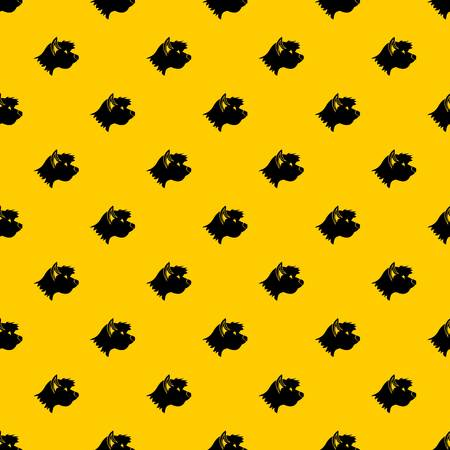 Terrier dog pattern seamless vector repeat geometric yellow for any design Ilustração