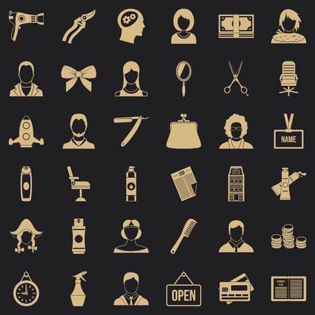 Dryer icons set, simple style Illustration