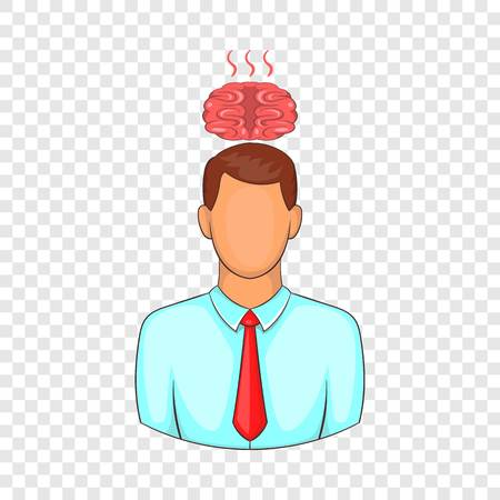 Man overheated brain icon. Cartoon illustration of human emotion vector icon for web design