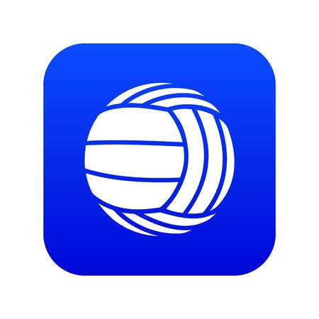 Modern volleyball icon blue vector isolated on white background