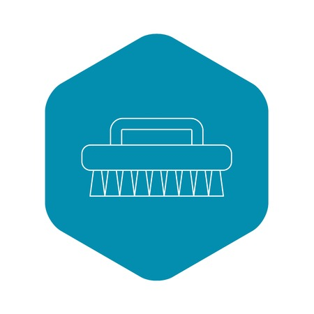 Brush for cleaning icon. Outline illustration of brush for cleaning vector icon for web