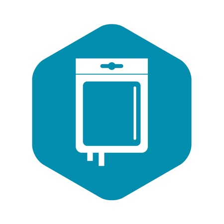 Blood transfusion icon, simple style Ilustração