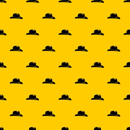 Cowboy hat pattern seamless vector repeat geometric yellow for any design