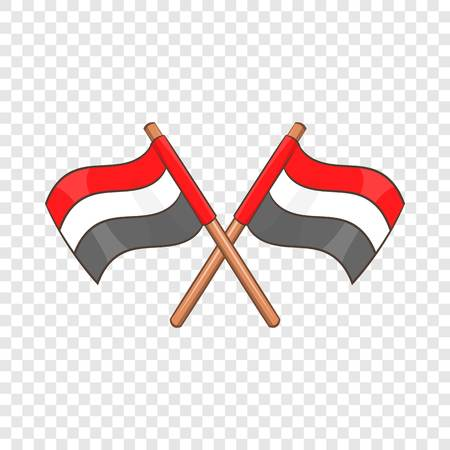 Egypt flags icon. Cartoon illustration of Egypt flags vector icon for web design