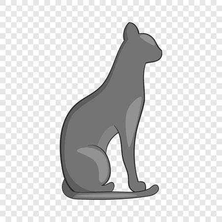 Egypt cat icon. Cartoon illustration of cat vector icon for web design