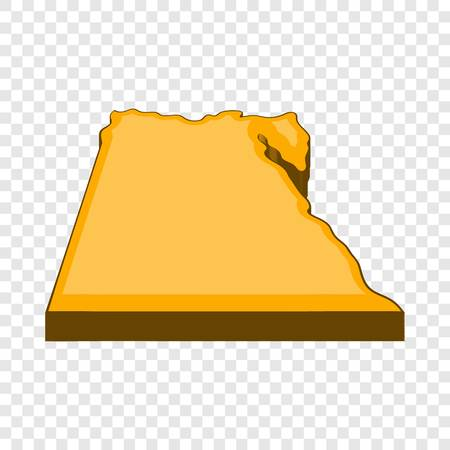 Egypt map icon. Cartoon illustration of Egypt map vector icon for web design 向量圖像