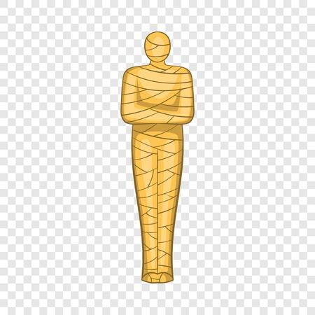 Ancient mummy icon. Cartoon illustration of mummy vector icon for web design Illustration