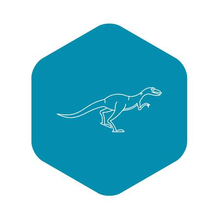 Velyciraptor icon, outline style Illustration