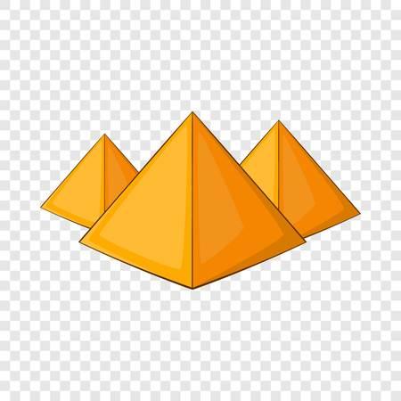 Egyptian pyramids icon, cartoon style Illustration