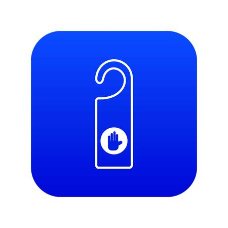 Do not disturb sign icon digital blue for any design isolated on white vector illustration 向量圖像