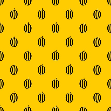 Striped melon pattern seamless vector repeat geometric yellow for any design