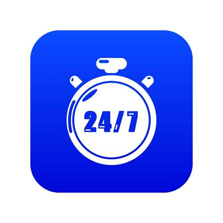 Stopwatch icon blue vector isolated on white background Banque d'images - 130237165