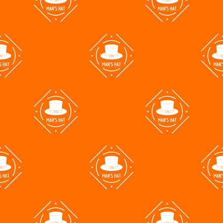 Cylinder hat pattern vector orange Illustration