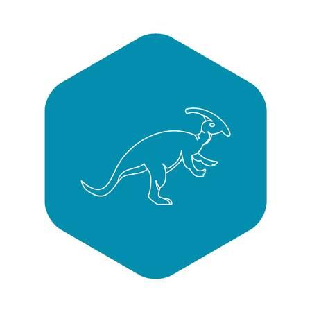 Parazavrolofus dinosaur icon, outline style Stock Vector - 122455735