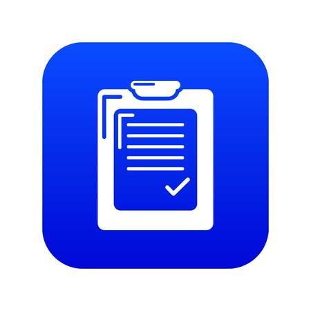 Check list icon blue vector isolated on white background Çizim