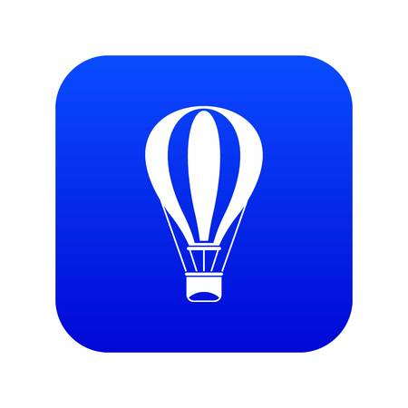 Hot air balloon icon digital blue Ilustração