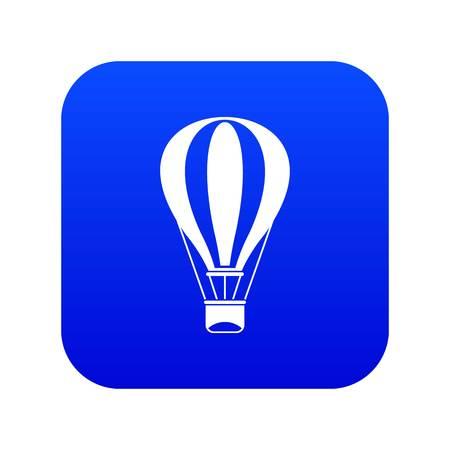 Hot air balloon icon digital blue Illustration