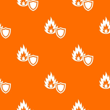 Fire protection pattern vector orange for any web design best