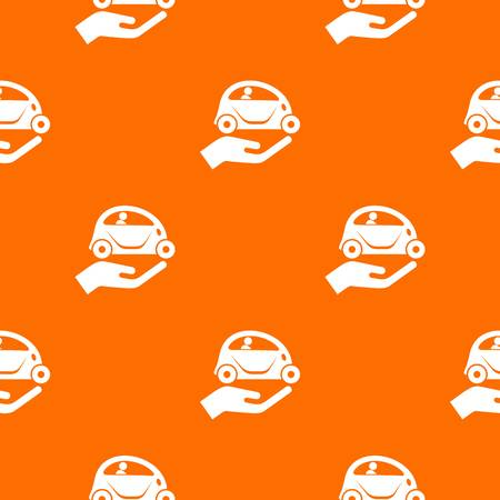 Car protection pattern vector orange for any web design best