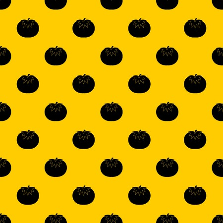 Tomato pattern seamless vector repeat geometric yellow for any design