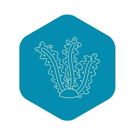 Algae icon, outline style