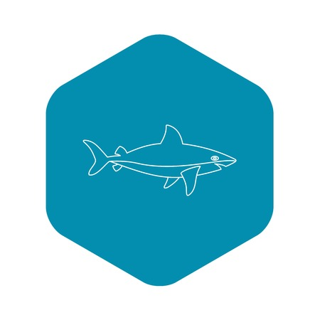 Shark icon. Outline illustration of shark vector icon for web