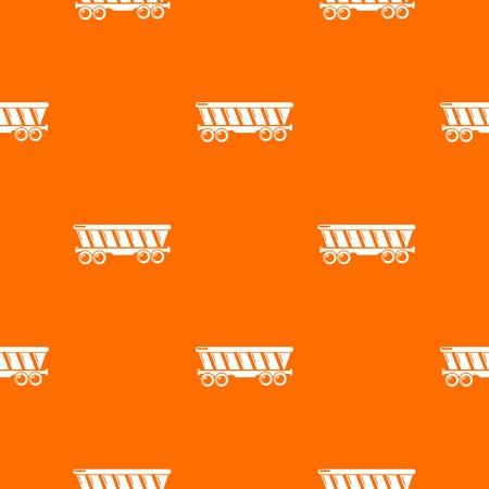 Balloon pattern vector orange