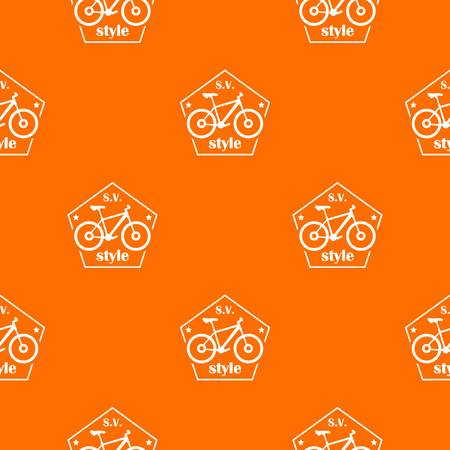 SV bike style pattern vector orange