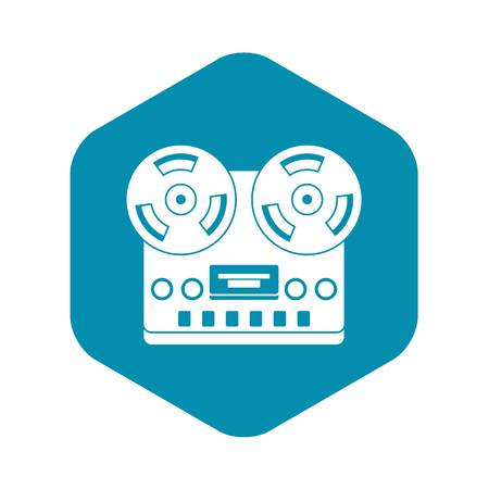 Retro tape recorder icon. Simple illustration of retro tape recorder vector icon for web
