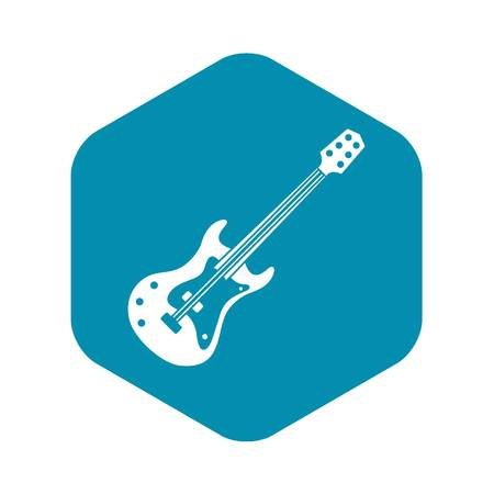 Classical electric guitar icon. Simple illustration of classical electric guitar vector icon for web Vettoriali