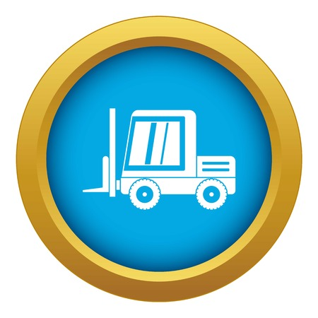 Stacker loader icon blue vector isolated on white background for any design