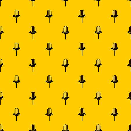 Ice Cream pattern seamless vector repeat geometric yellow for any design