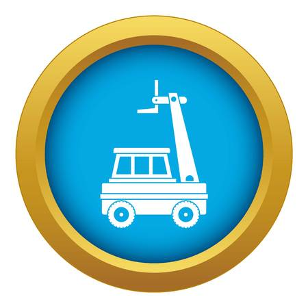 Cherry picker icon blue vector isolated on white background for any design