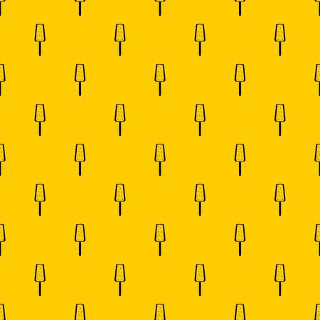 Ice Cream pattern seamless vector repeat geometric yellow for any design Ilustração Vetorial