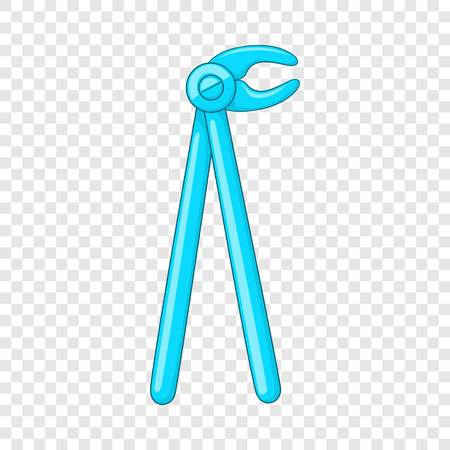Dental extraction forceps icon. Cartoon illustration of forceps vector icon for web design Illustration