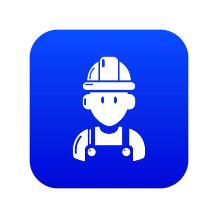 Builder icon blue vector isolated on white background  イラスト・ベクター素材