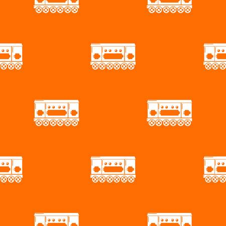 Compartment carriage pattern vector orange