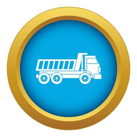 Dumper truck icon blue vector isolated on white background for any design Vettoriali