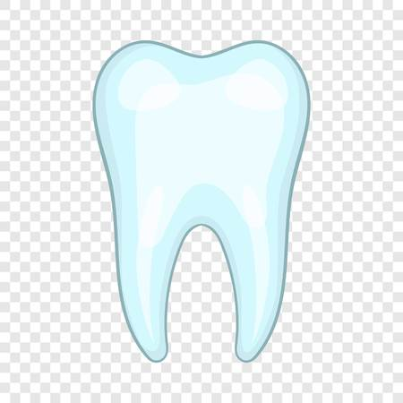 Tooth icon, cartoon style