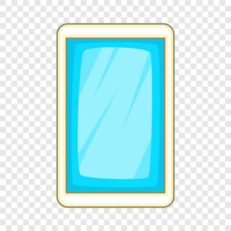 Blue smartphone icon, cartoon style