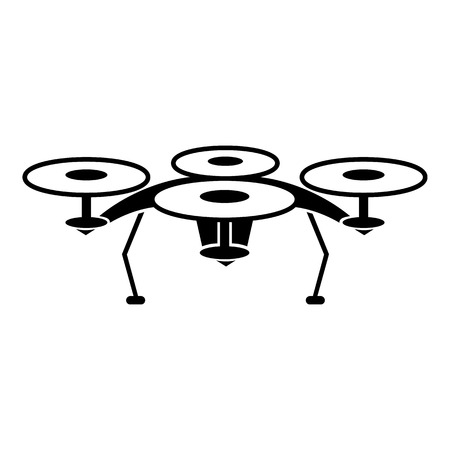 Quadcopter icon, simple style