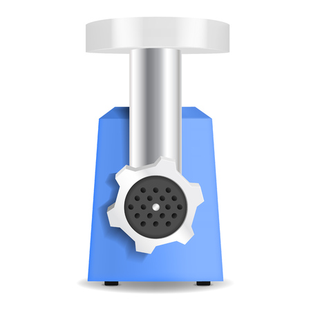 Meat grinder machine icon, realistic style Illustration