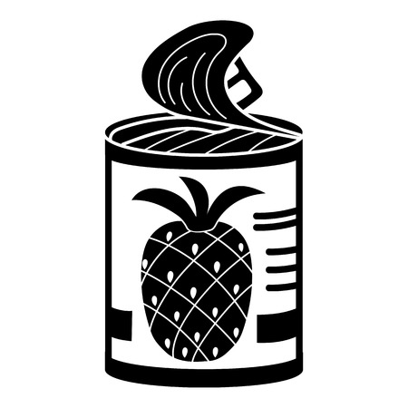 Pineapple tin can icon. Simple illustration of pineapple tin can vector icon for web design isolated on white background