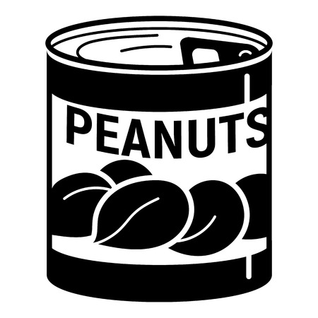 Peanuts tin can icon, simple style Illustration