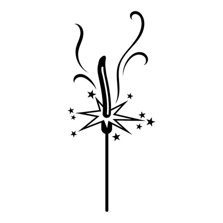 Sparkler icon. Simple illustration of sparkler vector icon for web design isolated on white background