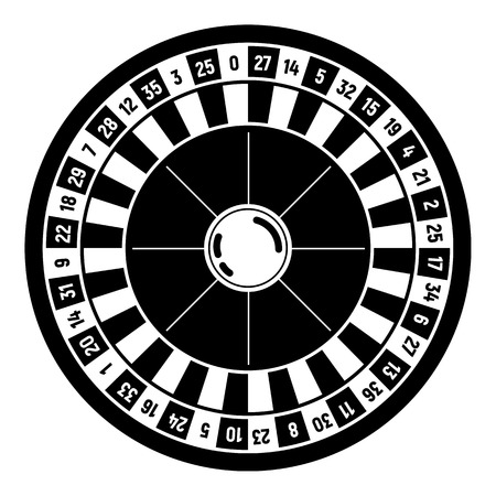 Casino roulette icon, simple style Ilustrace