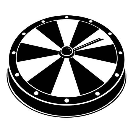 Fortune wheel icon. Simple illustration of fortune wheel vector icon for web design isolated on white background
