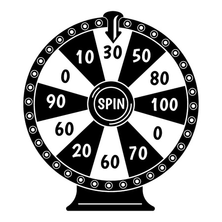 Spin fortune wheel icon. Simple illustration of spin fortune wheel vector icon for web design isolated on white background 일러스트