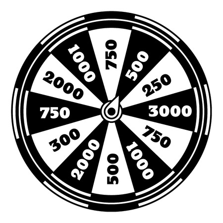 Spinning fortune wheel icon. Simple illustration of spinning fortune wheel vector icon for web design isolated on white background