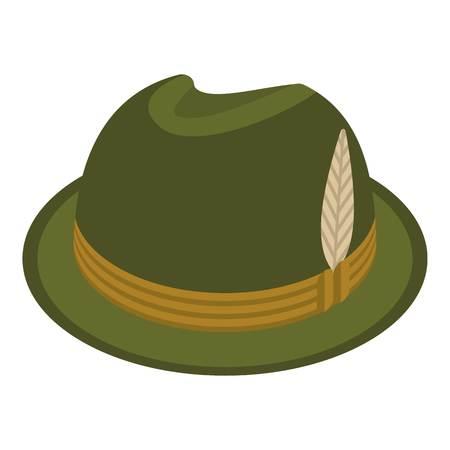 Icono de sombrero de cazador. Isométrica de sombrero de cazador icono vectoriales para diseño web aislado sobre fondo blanco.